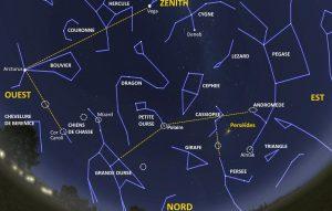 carte du ciel du nord à imprimer